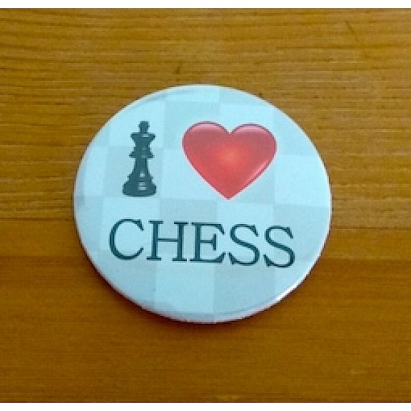 """Μαγνητικη τάπα με θέμα """"I love chess"""""""