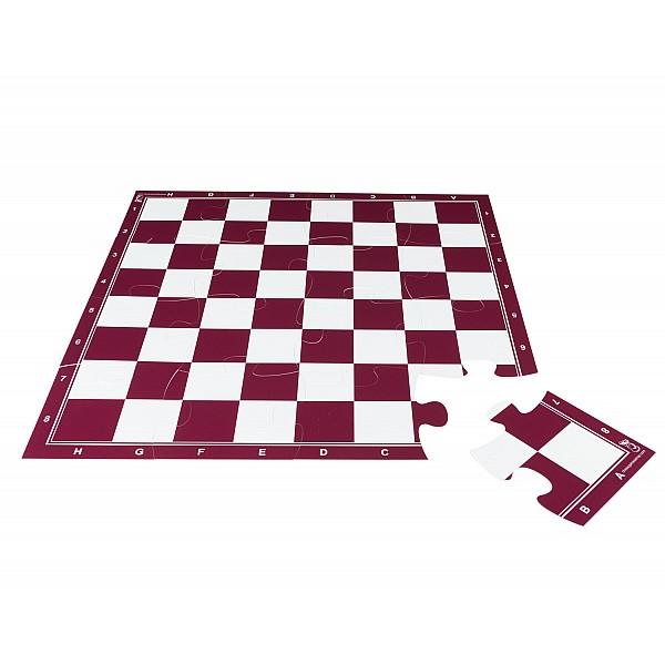 Σκακιέρα παζλ 16 τεμαχίων με διάσταση 50 Χ 50 εκ. - Χρώμα:κόκκινη
