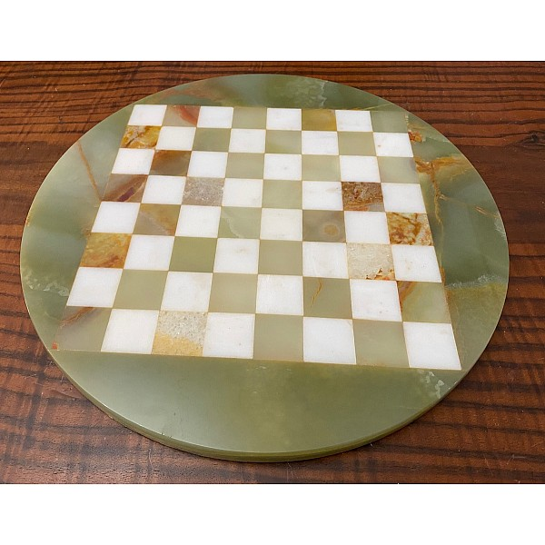 Σκακιέρα από όνυχα στρογγυλή (πράσινη) με διάμετρο 35 εκ