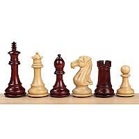 Σέτ πιόνια για σκάκι με βάρος Royal knight Redwood (ύψος βασιλιά 10.11 εκ.)