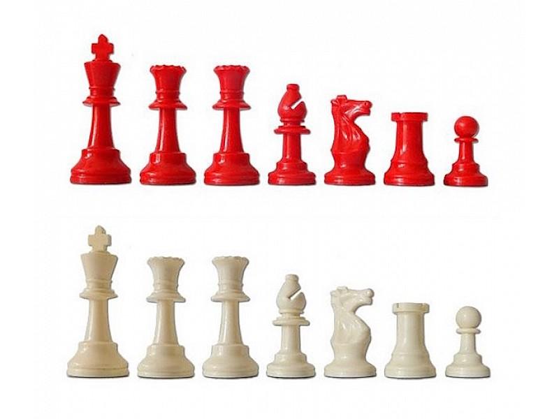 Χρωματιστό πλαστικό σέτ για σκάκι (κόκκινο)