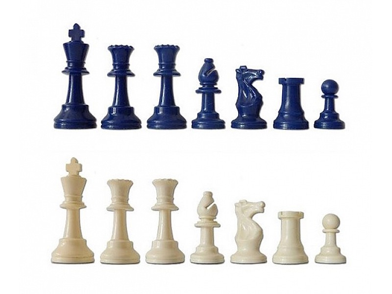 Χρωματιστό πλαστικό σέτ για σκάκι (μπλέ)