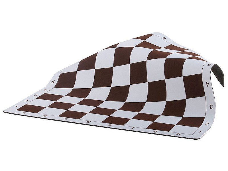 Σκακιέρα deluxe  βινιλίου καφέ  50 Χ 50 εκ.  με έξτρα παχός και ειδική επίστρωση με αντιολισθητικό υλικό για σταθερότητα &  με σπαστές γωνίες