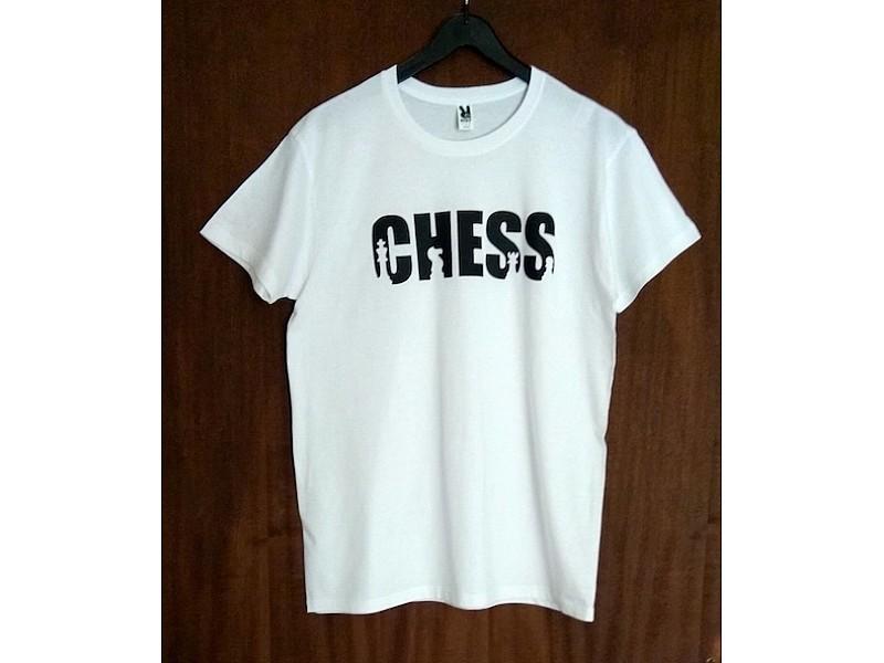 "T- Shirt λευκό με θέμα ""Chess"""
