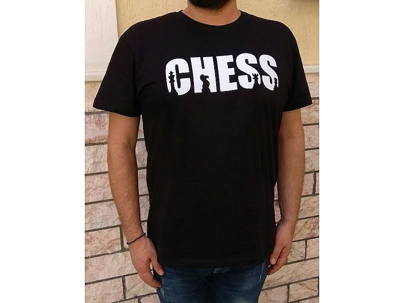 """T- Shirt μαύρο με θέμα """"Chess"""""""