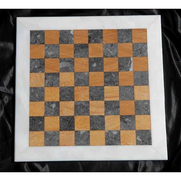 Κοζάνης, Teak και Αλιβερίου μαρμάρινη σκακιέρα  Διάσταση 40 X 40 εκ.