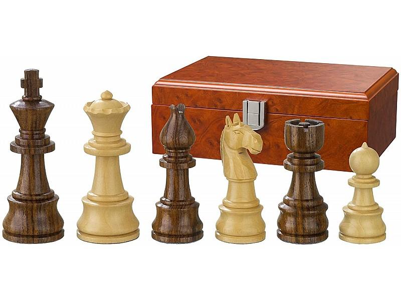 """Σέτ πιόνια για σκάκι με βάρος """"Barret"""" Νο J44B (ύψος βασιλιά 9.5 εκ.) - χωρίς ξύλινη κασετίνα"""