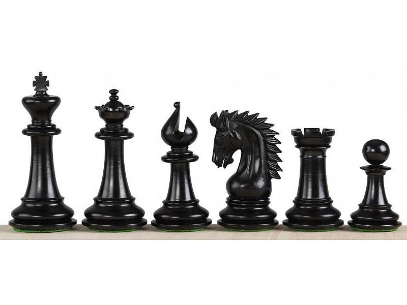 Ξύλινα πιόνια Sheffield knight black edition με ύψος βασιλιά  9.5 εκ.