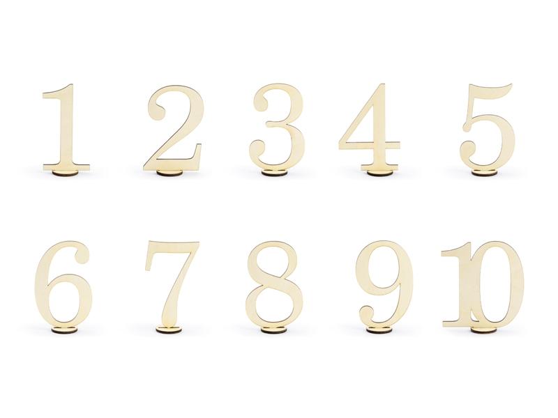 Ξύλινοι αριθμοί με βάση  για αρίθμηση τραπεζιών