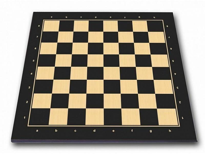 Σκακιέρα πλακέτα τυπωμένη Berlin μαύρη με συντεταγμένες 55 Χ 55 εκ. - Mε διάσταση τετραγώνου 5.7 εκ.
