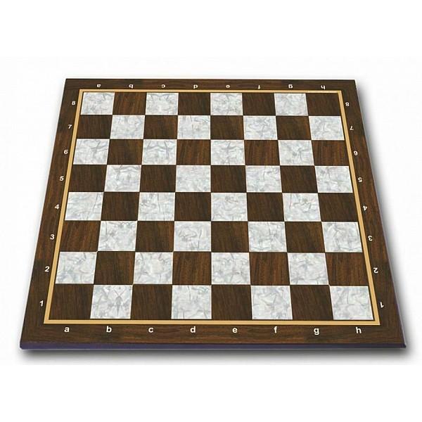 Σκακιέρα πλακέτα τυπωμένη Pearl με συντεταγμένες 55 Χ 55 εκ. - Mε διάσταση τετραγώνου 5.7 εκ.