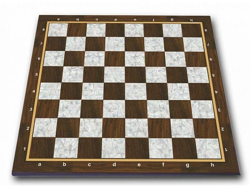 Σκακιέρα πλακέτα τυπωμένη pearl με συντεταγμένες 45 Χ 45 εκ. - Mε διάσταση τετραγώνου 4.5 εκ.
