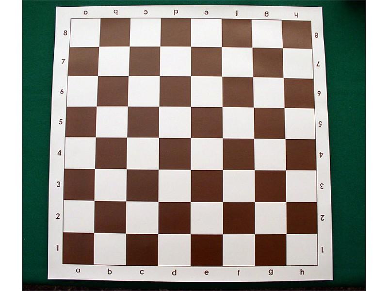 Σκακιέρα βινυλίου καφέ  50 Χ 50 μαζί με πλαστικά πιόνια (με βάρος) με ύψος βασιλιά 9.5 εκ. + χρονόμετρο DGT 1001