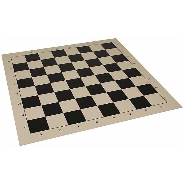 Σκακιέρα βινυλίου μαύρη 50X50 εκ.