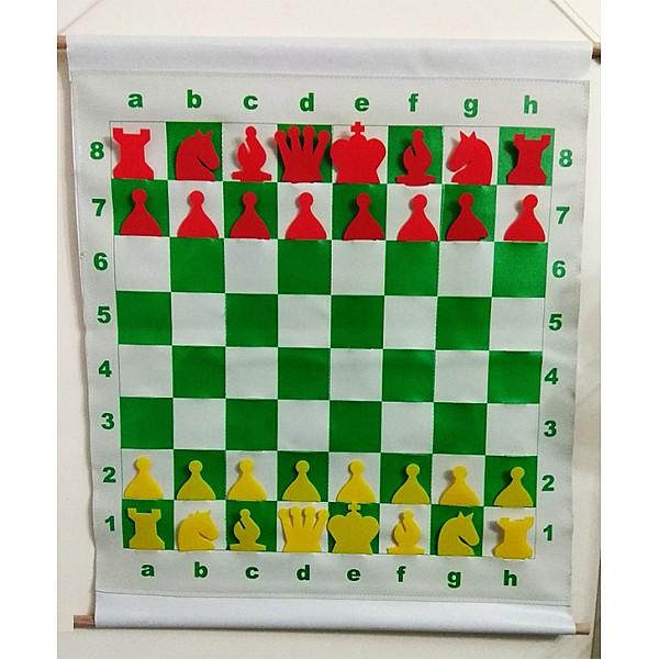 Εκπαιδευτική σκακιέρα κρεμαστή με θήκες